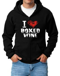 I love boxed wine Zip Hoodie - Mens