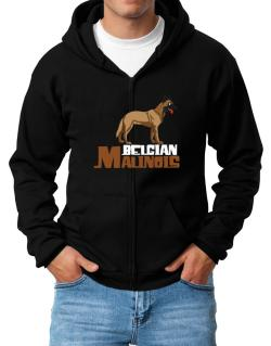 Belgian malinois cute dog Zip Hoodie - Mens