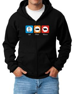 Eat sleep Manx Zip Hoodie - Mens