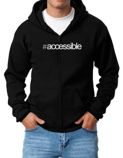 Hashtag accessible Zip Hoodie - Mens