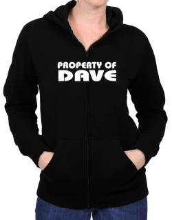 """ Property of Dave "" Zip Hoodie - Womens"