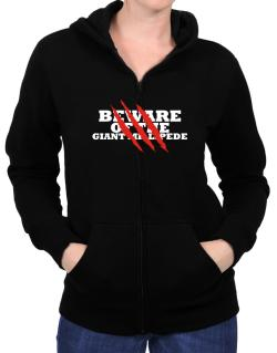 Beware Of The Giant Millipede Zip Hoodie - Womens