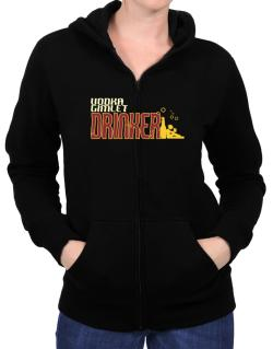 Vodka Gimlet Drinker Zip Hoodie - Womens