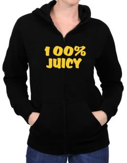 100% Juicy Zip Hoodie - Womens