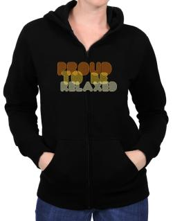 Proud To Be Relaxed Zip Hoodie - Womens