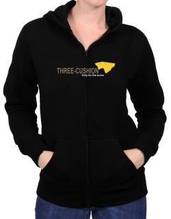 """"""" Three-Cushion - Only for the brave """" Zip Hoodie - Womens"""
