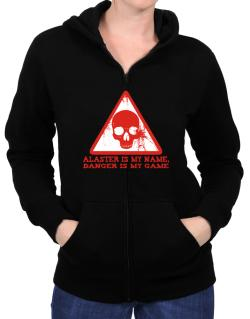 Alaster Is My Name, Danger Is My Game Zip Hoodie - Womens