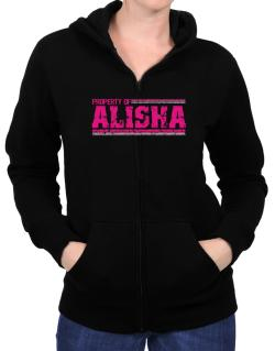 Property Of Alisha - Vintage Zip Hoodie - Womens