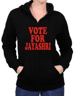 Vote For Jayashri Zip Hoodie - Womens