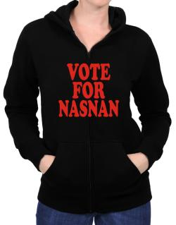 Vote For Nasnan Zip Hoodie - Womens