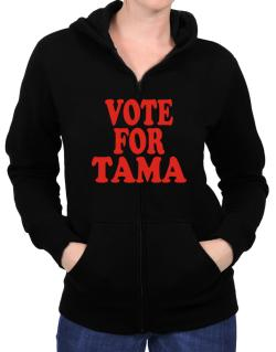 Vote For Tama Zip Hoodie - Womens