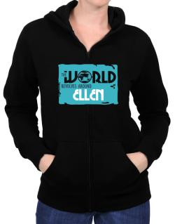 The World Revolves Around Ellen Zip Hoodie - Womens