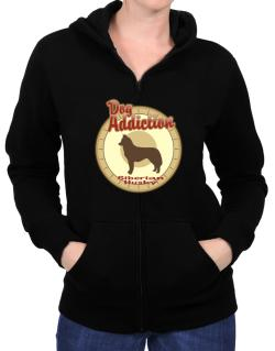 Dog Addiction : Siberian Husky Zip Hoodie - Womens