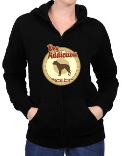 Dog Addiction : American Bulldog Zip Hoodie - Womens
