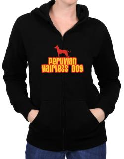 Breed Color Peruvian Hairless Dog Zip Hoodie - Womens