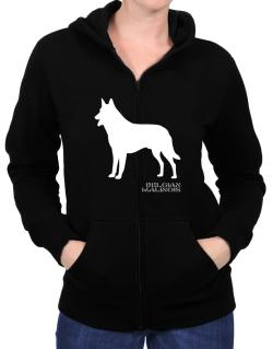 Belgian Malinois Stencil / Chees Zip Hoodie - Womens