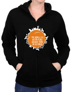 Better Place Irish Terriers Zip Hoodie - Womens