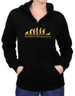 Evolution Of The Dachshund Zip Hoodie - Womens