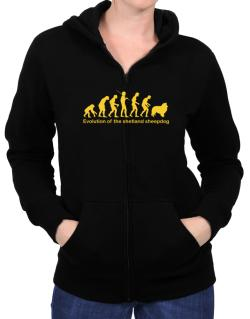 Evolution Of The Shetland Sheepdog Zip Hoodie - Womens