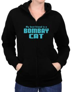 My Best Friend Is A Bombay Zip Hoodie - Womens