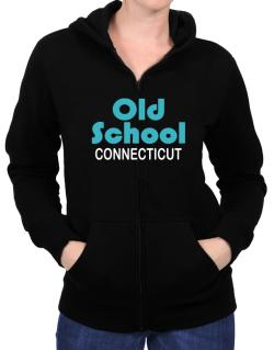Old School Connecticut Zip Hoodie - Womens