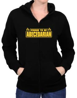 Proud To Be Abecedarian Zip Hoodie - Womens