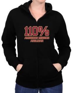 110% American Mission Anglican Zip Hoodie - Womens