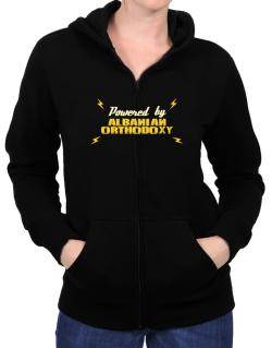 Powered By Albanian Orthodoxy Zip Hoodie - Womens