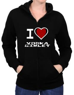 I Love Vodka Gimlet Zip Hoodie - Womens