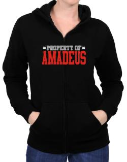 """ Property of Amadeus "" Zip Hoodie - Womens"
