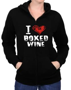I love boxed wine Zip Hoodie - Womens