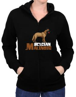 Belgian malinois cute dog Zip Hoodie - Womens