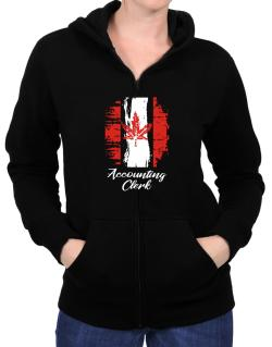 Accounting Clerk - Canada  Zip Hoodie - Womens