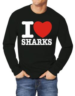I Love Sharks Long-sleeve T-Shirt