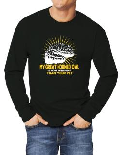 My Great Horned Owl Is More Intelligent Than Your Pet Long-sleeve T-Shirt