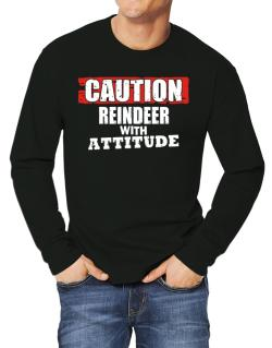 Caution - Reindeer With Attitude Long-sleeve T-Shirt
