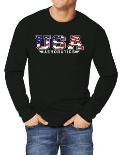 Usa Aerobatics / Flag Clip - Army Long-sleeve T-Shirt