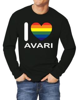I Love Avari - Rainbow Heart Long-sleeve T-Shirt