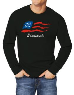 Bismarck - Us Flag Long-sleeve T-Shirt