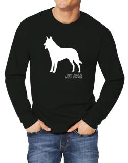 Belgian Malinois Stencil / Chees Long-sleeve T-Shirt