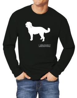 Labradoodle Stencil / Chees Long-sleeve T-Shirt