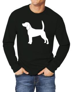Beagle Silhouette Embroidery Long-sleeve T-Shirt