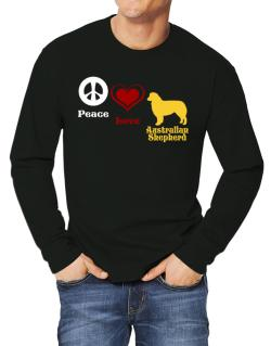 Peace, Love, Australian Shepherd Long-sleeve T-Shirt