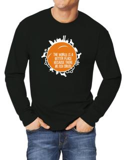 Better Place Irish Terriers Long-sleeve T-Shirt