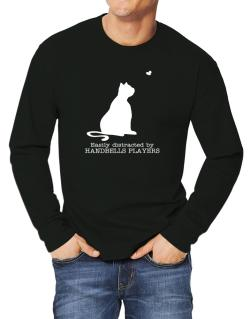 Easily Distracted By Handbells Players Long-sleeve T-Shirt