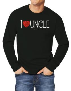I love Auncle cool style Long-sleeve T-Shirt