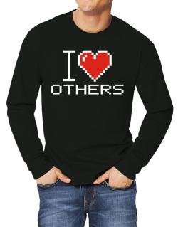 I love Others pixelated Long-sleeve T-Shirt