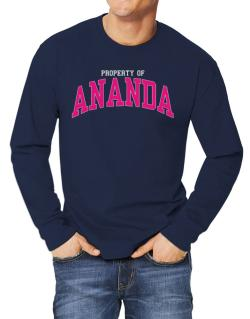 Property Of Ananda Long-sleeve T-Shirt