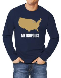 Metropolis - Usa Map Long-sleeve T-Shirt