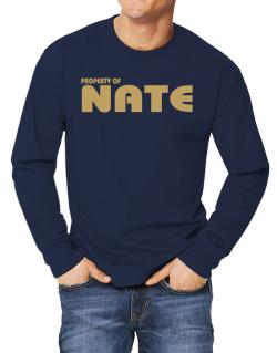 Property Of Nate Long-sleeve T-Shirt
